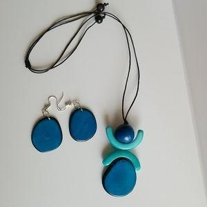 Cute handmade tagua set